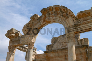 The Temple of Hadrian in Ancient City of Ephesus in Turkey