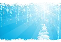Light blue abstract Christmas, winter vector background
