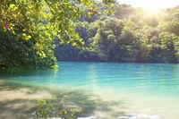 Blue lagoon on Jamaica