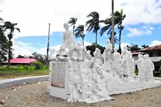 Denkmal für die ersten Javanesen in Suriname