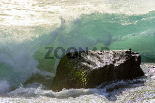 Waves on the stone