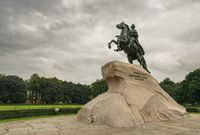 The bronze horseman statue to Peter the Great