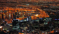 Kapstadt bei Nacht, Südafrika, Cape Town at night, South Africa