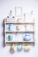 Vintage shelf wall
