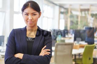 Geschäftsfrau als Manager mit Kompetenz
