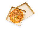 Pizza isolated on the white background