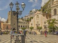 The Main Square Taormina  Italy