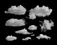 white clouds on a black background