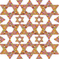 Floral Jewish background