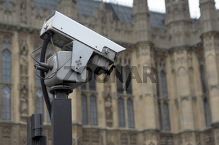 CCTV camera near historic building