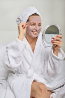 Attractive woman wearing a face mask