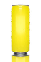 typical yellow energy drink tin