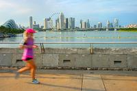 Jogging Singapore at sunset