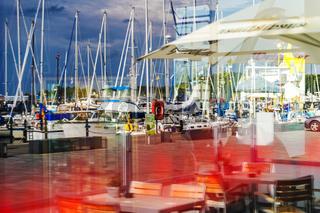 Spiegelung Hafen