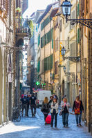 Women on a street in Florence