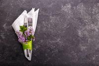 Spring festive table setting