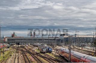 Blick auf den Hauptbahnhof von München