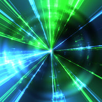 green and blue laser rays