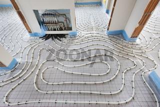 Innenausbau mit Fußbodenheizung und Sanitär