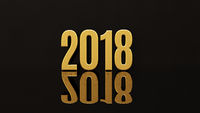 Happy New Year 2018 Text Design 3D Illustration