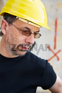 Engineer in a yellow hard hat