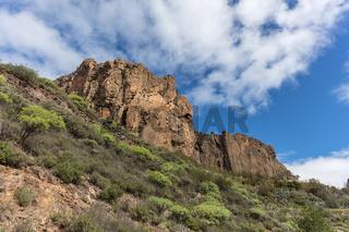 Fels in Gran Canaria bei Tag