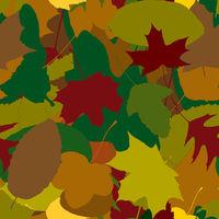 Viele verschiedene Herbstblätter als Muster