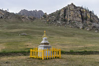 Stupa in der Steppe