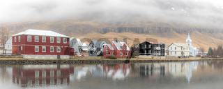 Seydisfjordur cityscape Iceland