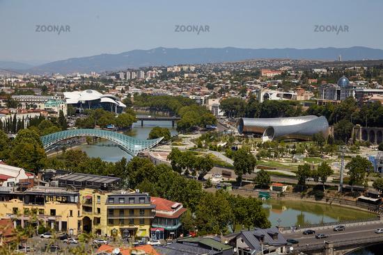 Blick auf Tiflis, Georgien