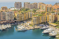 Buildings Around The Marina Monte Carlo Monaco