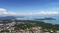 Aerial view from Monkey Hill in Phuket
