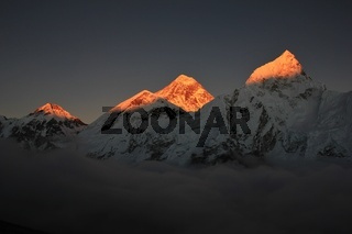 Sunset view from Kala Patthar