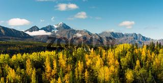 High Snow Covered Peaks Chugach Mountain Range Alaska
