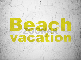 Tourism concept: Beach Vacation on wall background