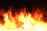 hot fire wall background