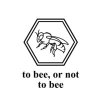 Bee Logo and Positive Text