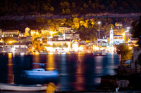 Town of Vis island evening view