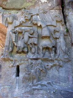 Relief - der Kreuzabnahme an den Externsteinen