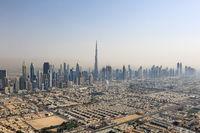 Dubai Skyline Burj Khalifa Downtown Luftaufnahme Luftbild