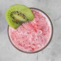 Strawberry smoothie with kiwi