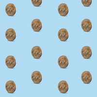 Pattern seamless of gold coins
