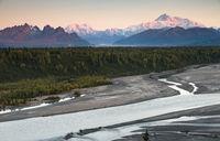 Denali Mountain Range Mt McKinley Alaska North America