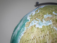 globe shows europe