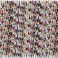 Junge Leute Menschen People Gruppe Menschengruppe Menschenmenge multikulturell bunt Hintergrund