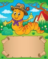 Happy caterpillar theme parchment 1