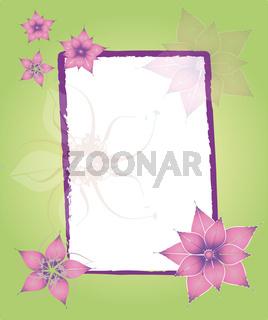 Pink Floral Hintergrund
