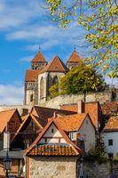 Blick auf das Schloss von Quedlinburg