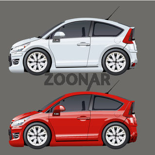 Cartoon vector cars