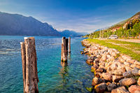 Garda lake coastline in Malcesine view